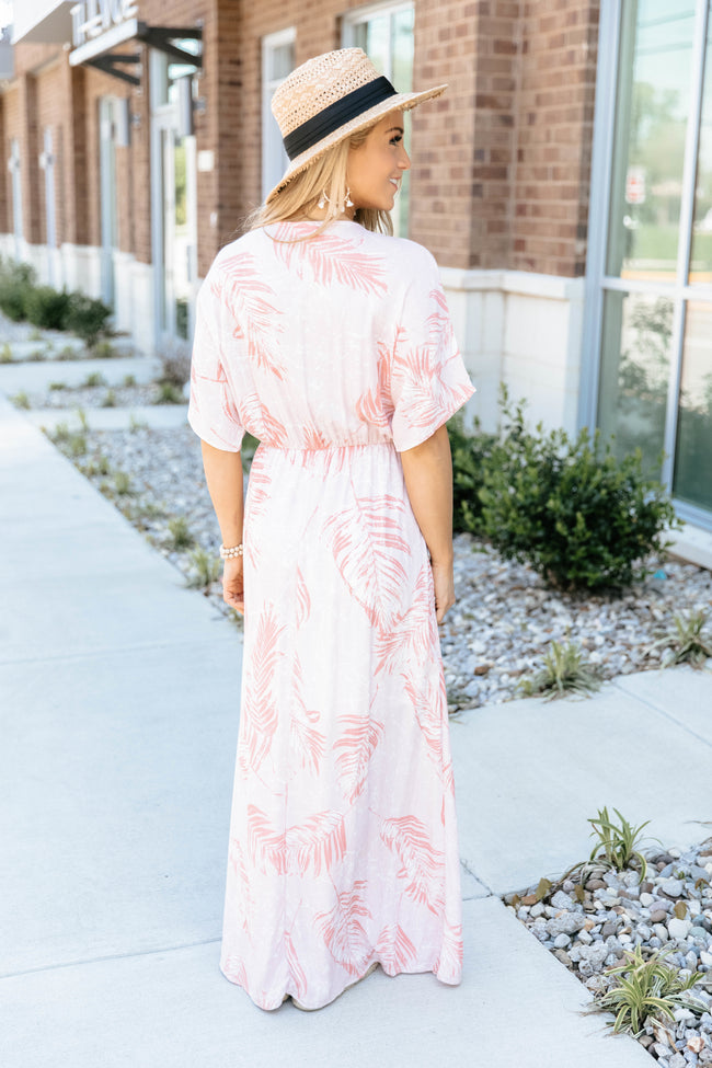 Tropical Ray Of Sunshine Maxi Dress Coral