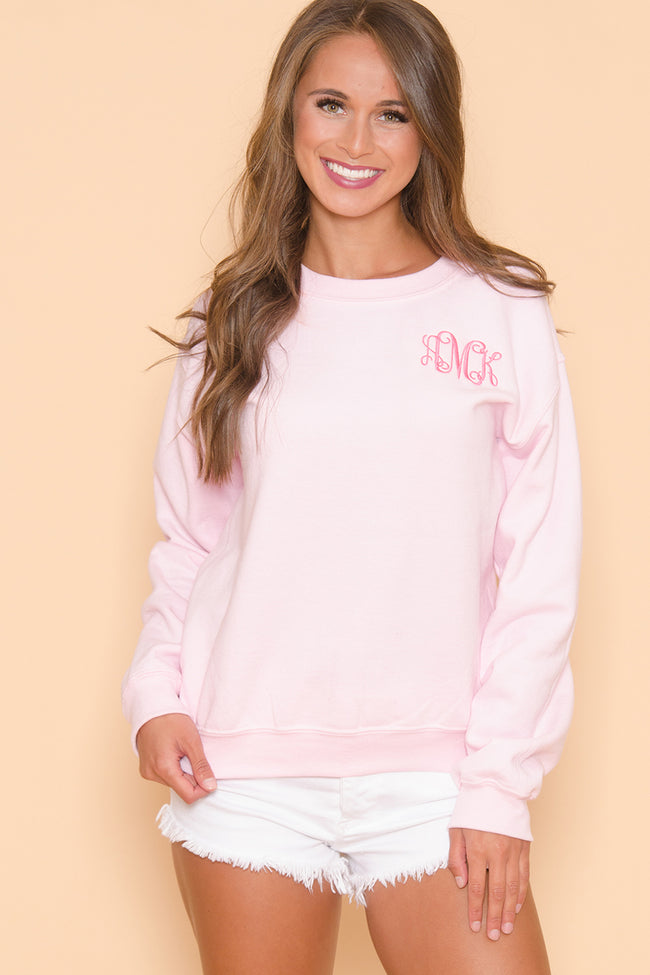 True Colors Light Pink Personalized Sweatshirt