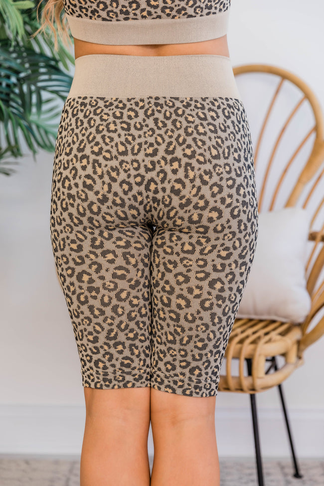 Try To Keep Up Animal Print Biker Shorts