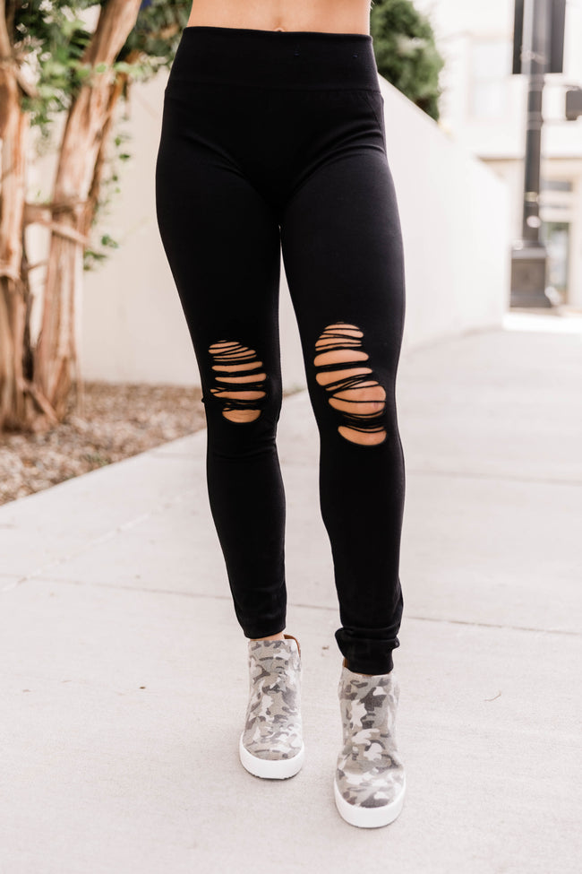 Turn It Up Skinny Distressed Leggings
