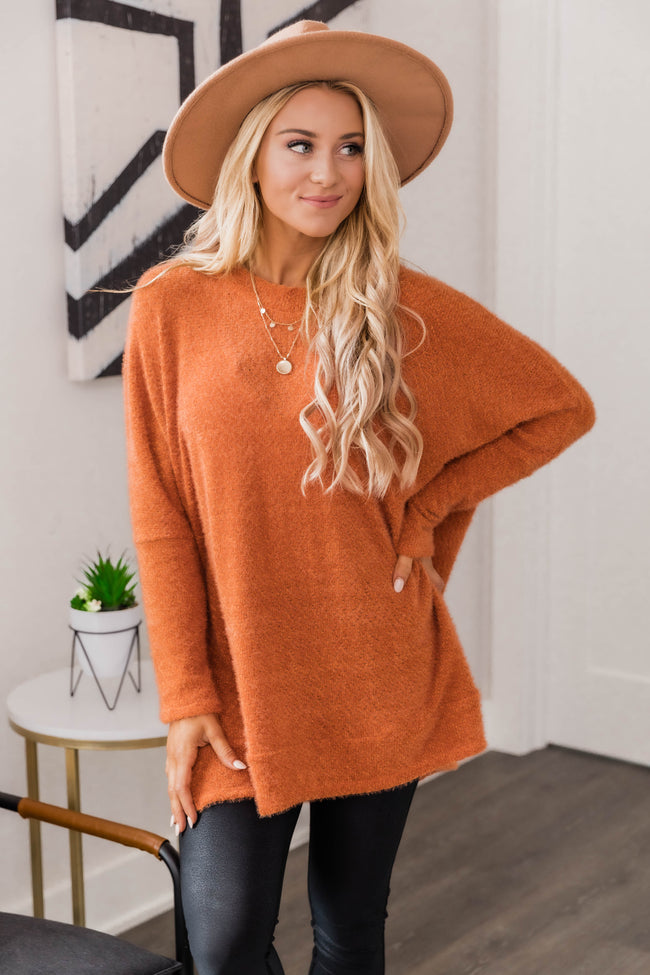 Uncomplicate My Life Rust Pullover