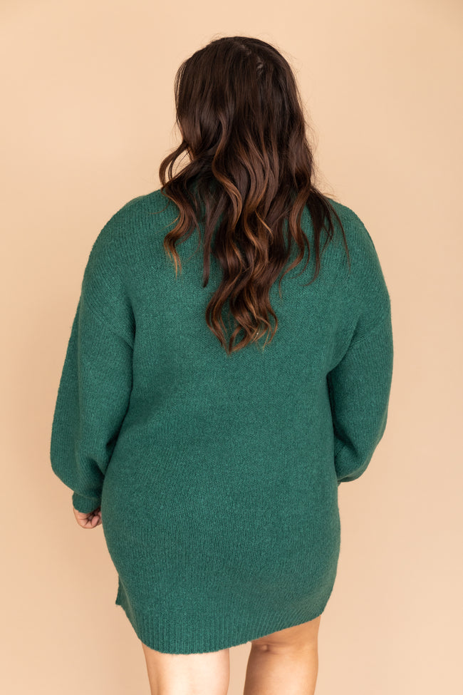 We Owned The Night Sweater Dress Green