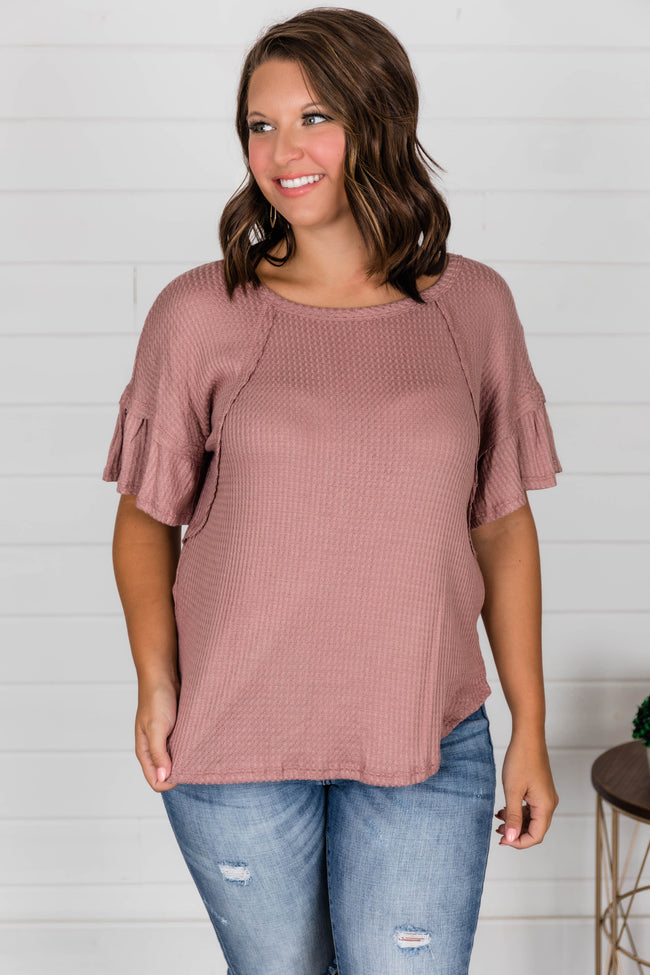 We Will Be Alright Blouse Mauve