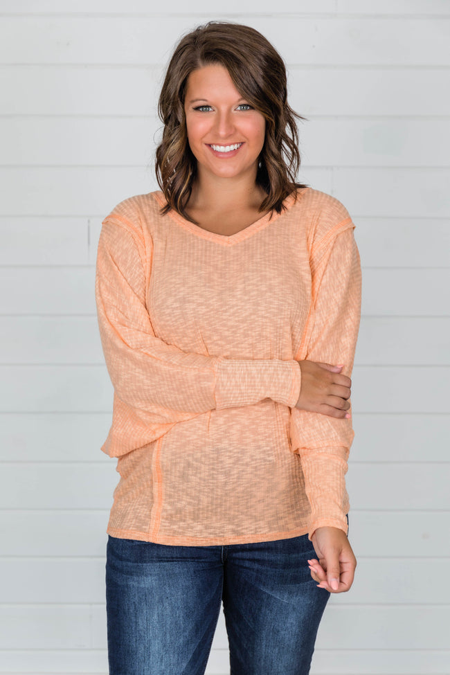 Whatever You Need Pullover Orange