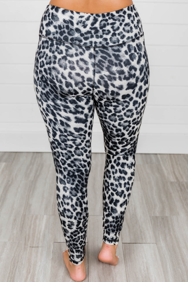 Wild for Us Leopard Full Length Leggings Grey