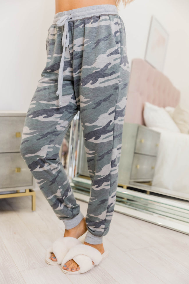 Win My Heart Camo Print Lounge Pants