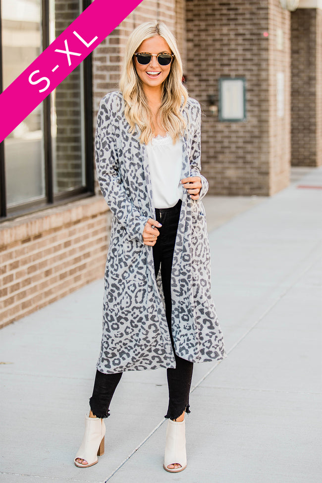 Wish You Well Animal Print Duster Cardigan