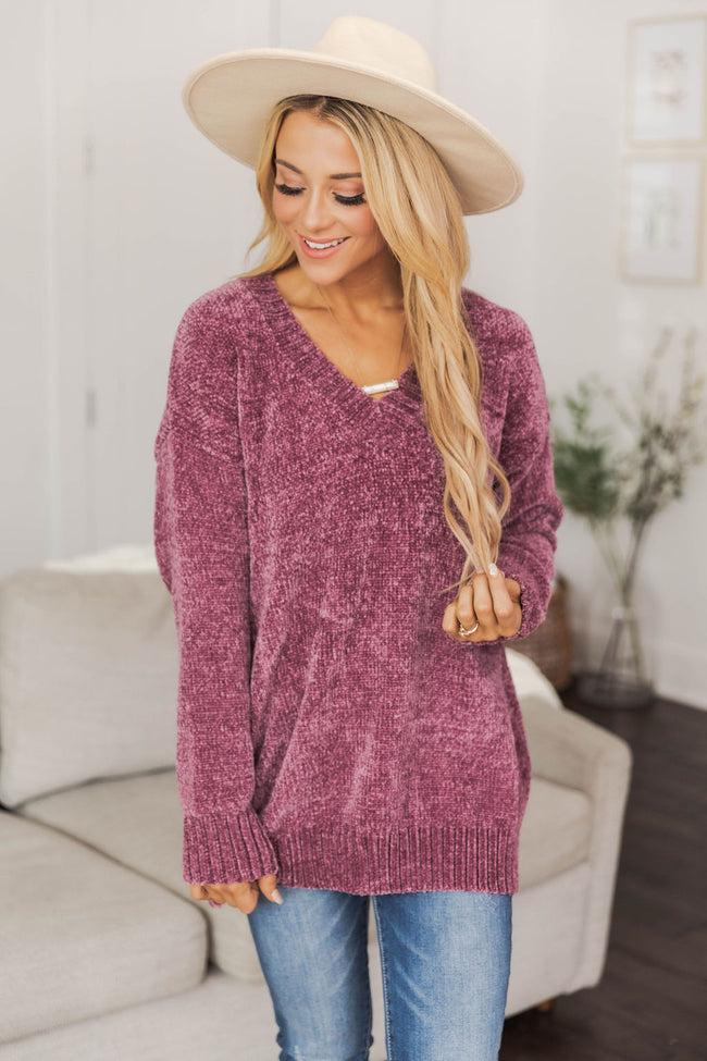 Without A Doubt Purple Sweater FINAL SALE
