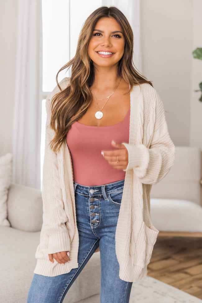 Won't Change My Heart Cream Cardigan