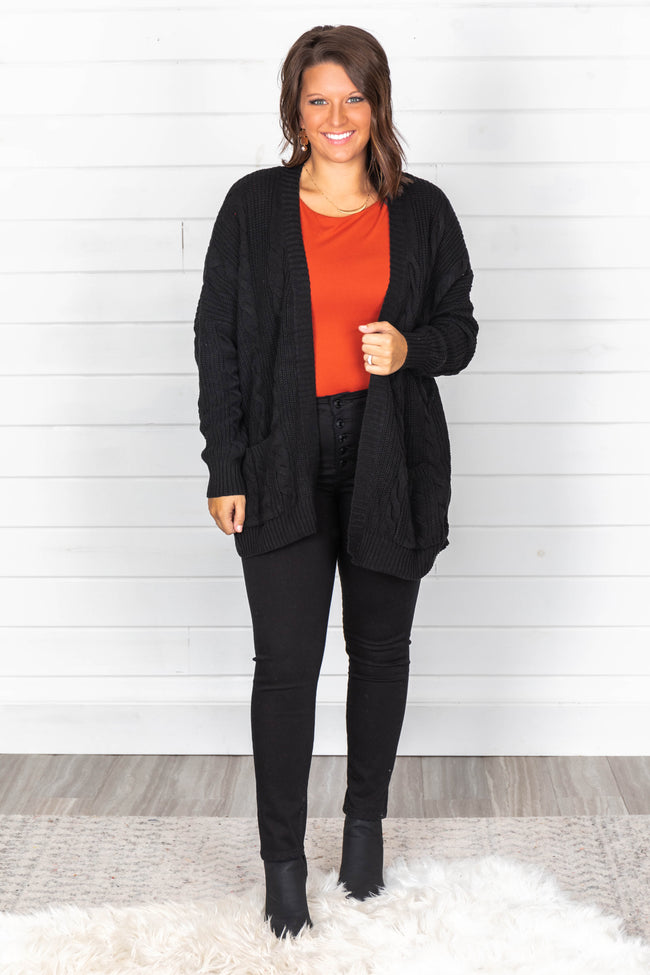 Won't Change My Heart Black Cardigan