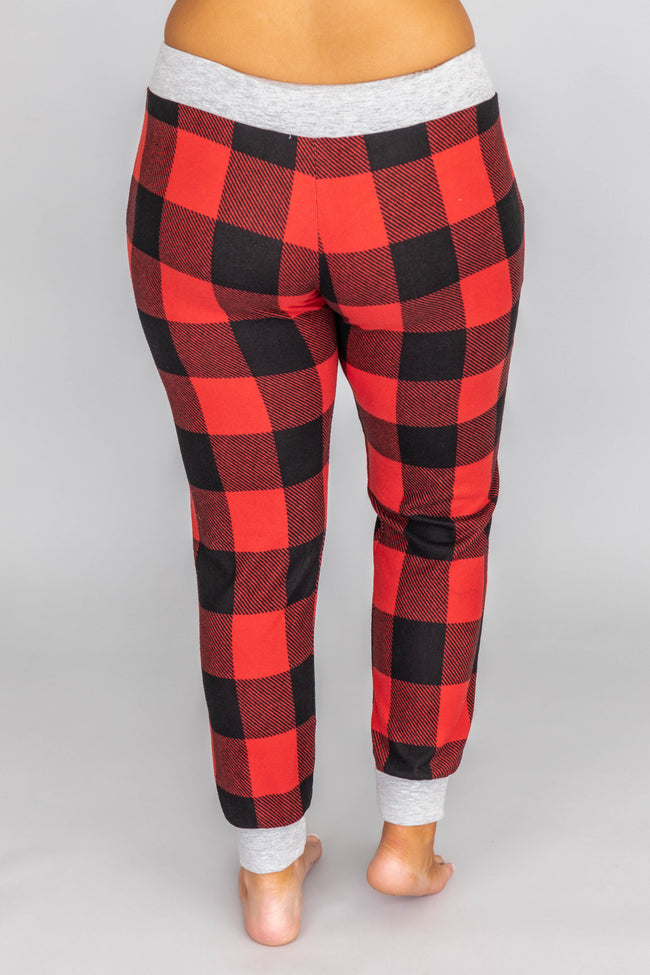 You're My Favorite Red Plaid Lounge Pants