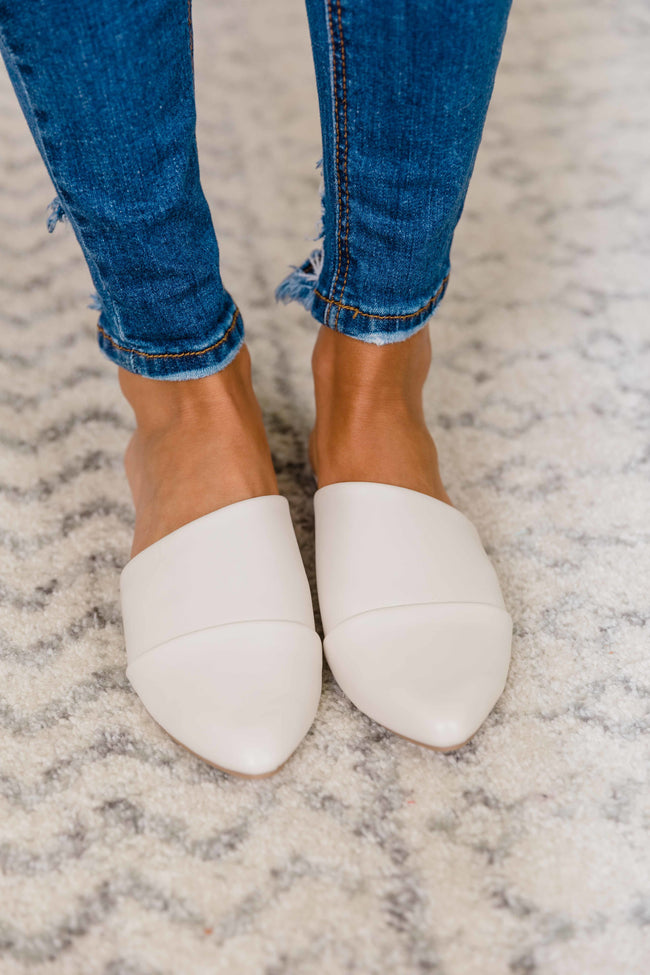 The Adrienne Cream Mules