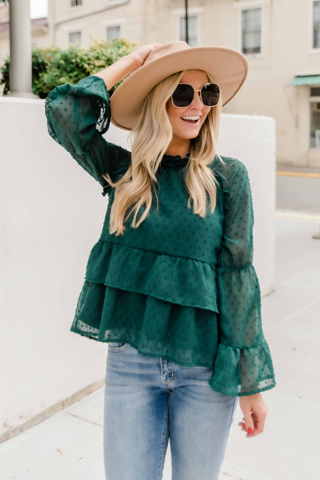 My Perfect Match Evergreen Blouse