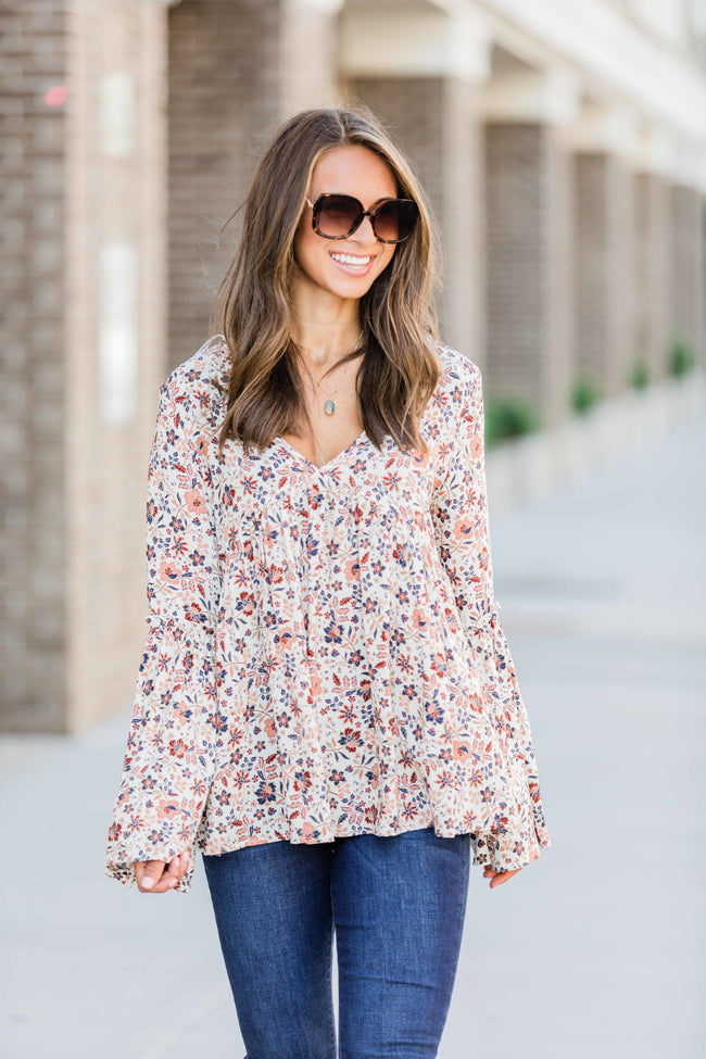 These Changing Days Cream Floral Blouse