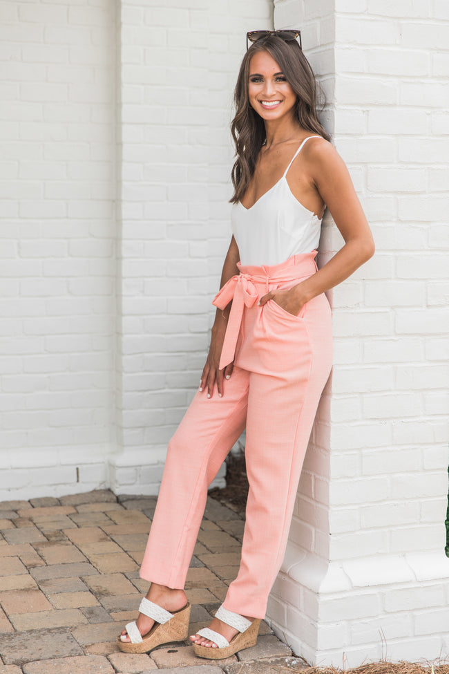 Be Your Best Self Coral Jumpsuit