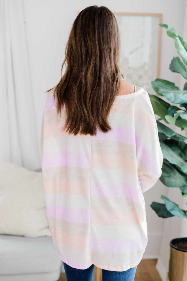 Sunset Thoughts Striped Tunic Lavender