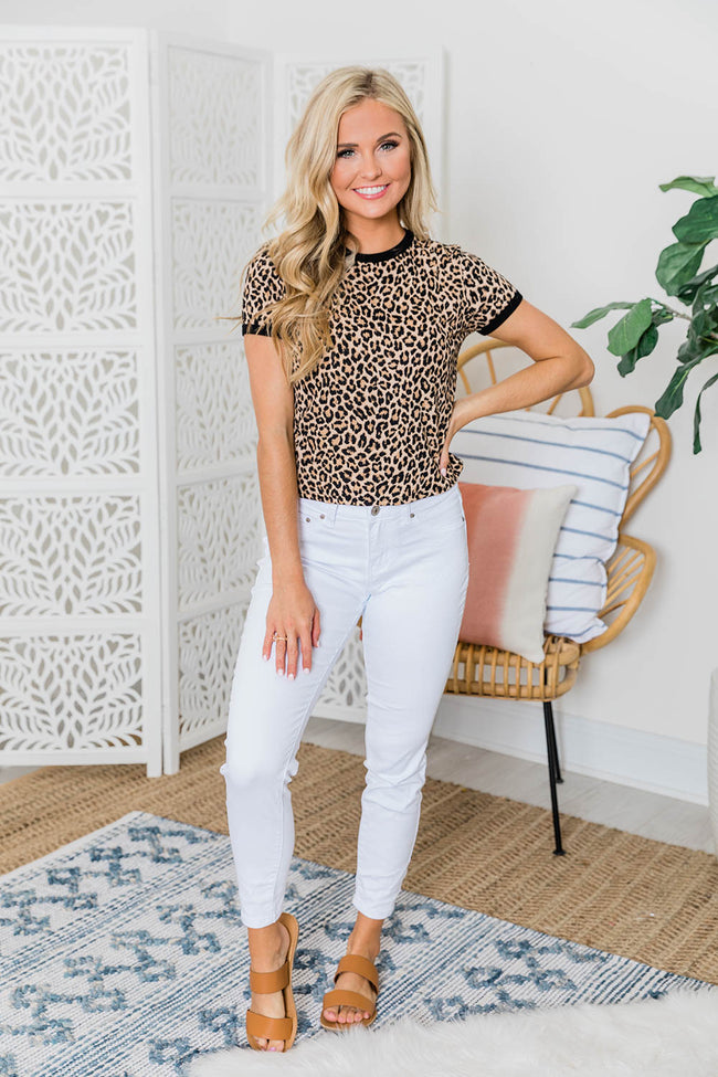 Spotlight On Your Heart Animal Print Cropped Blouse FINAL SALE