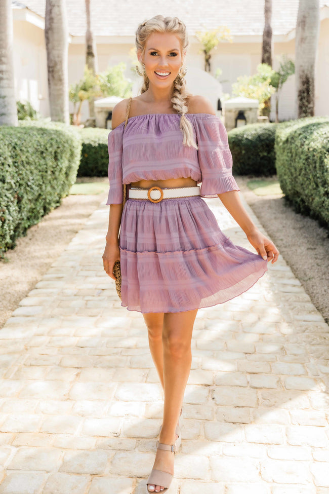 Your Love Lasts Forever Two Piece Set Mauve CLEARANCE