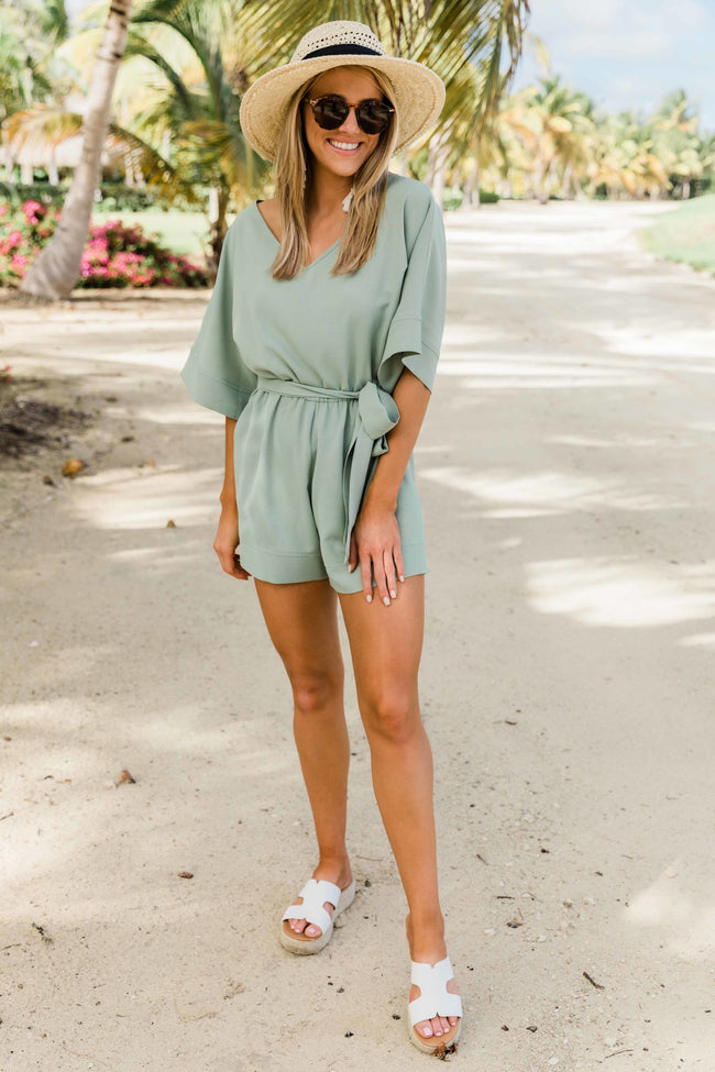 Dream About You Sage Romper