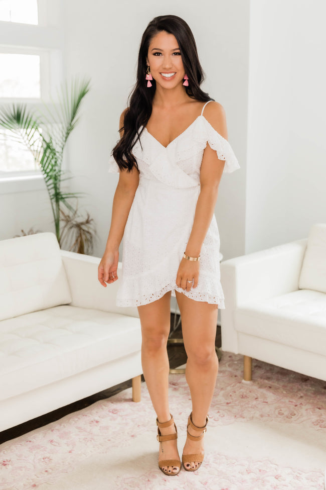See Through My Eyes Dress White FINAL SALE