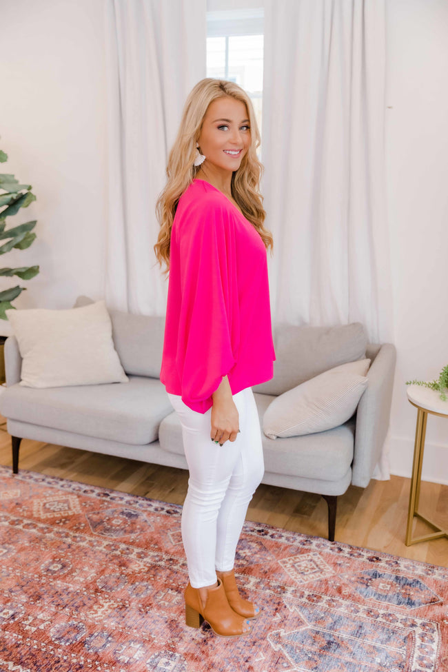 Be My Shining Star Fuchsia Blouse