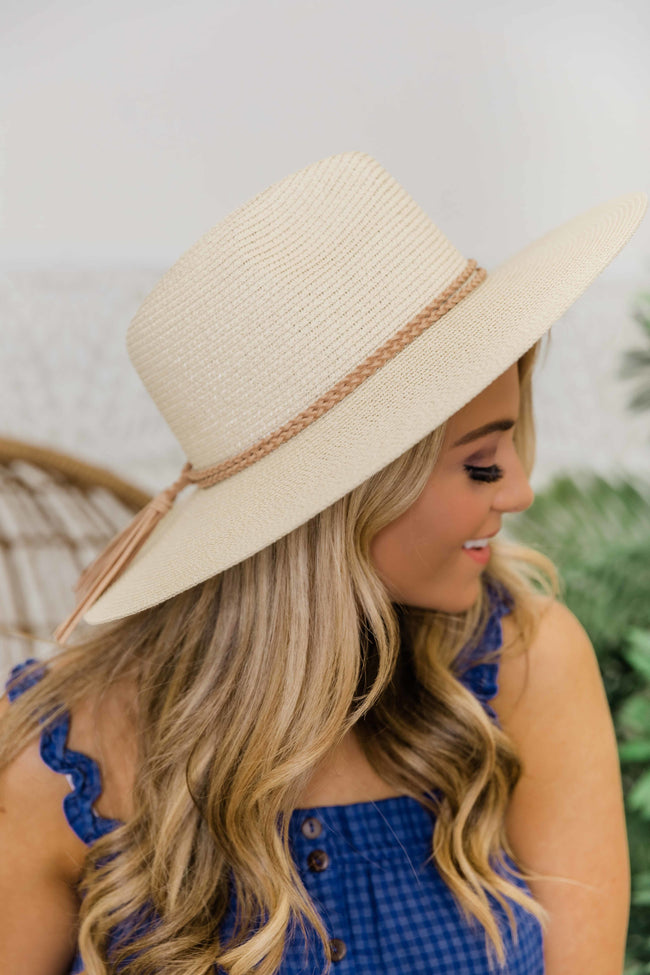Take A Weekend Away  Straw Fedora Ivory