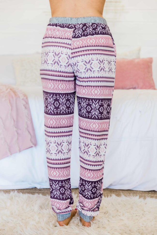 Sugarplum Dreams Mauve Lounge Pants FINAL SALE