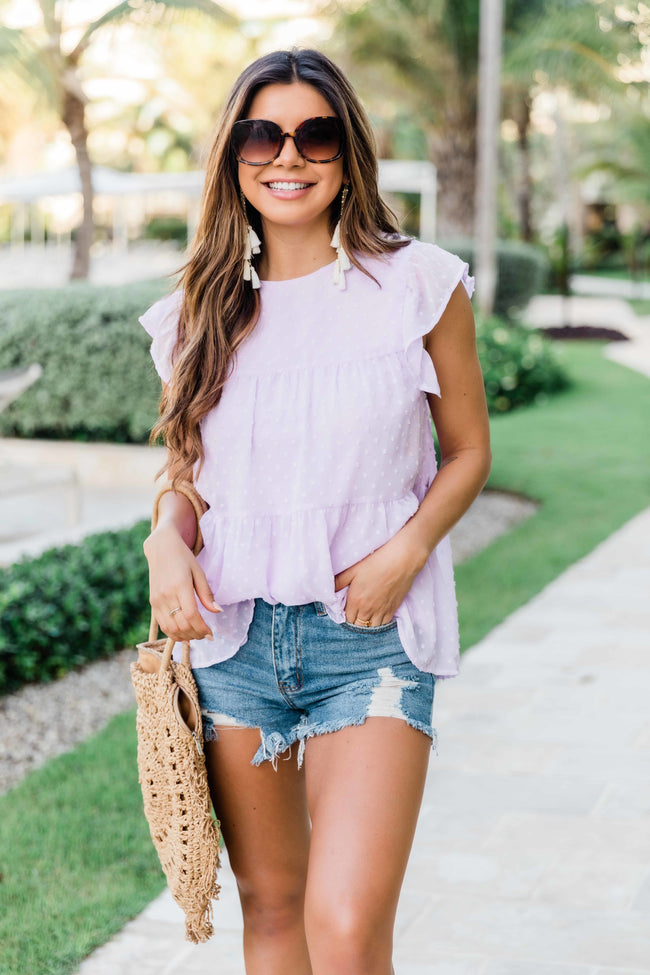Cute As Can Be Blouse Lilac