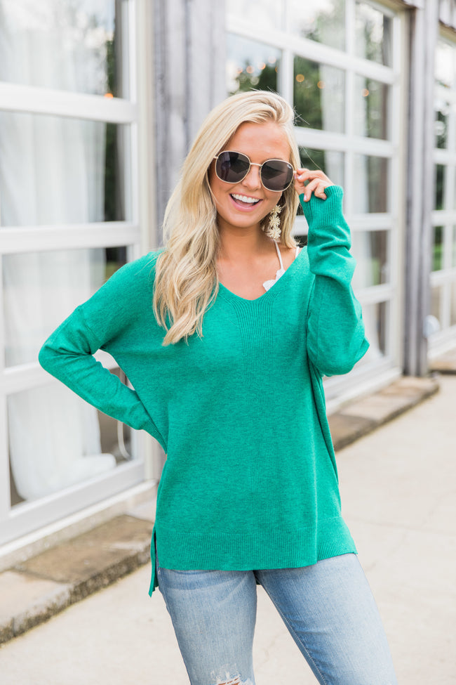 Need You By My Side Green Sweater