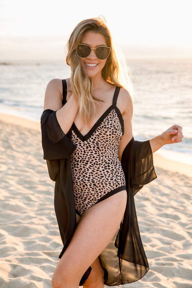 Chasing The Weekend Leopard Print Swimsuit FINAL SALE