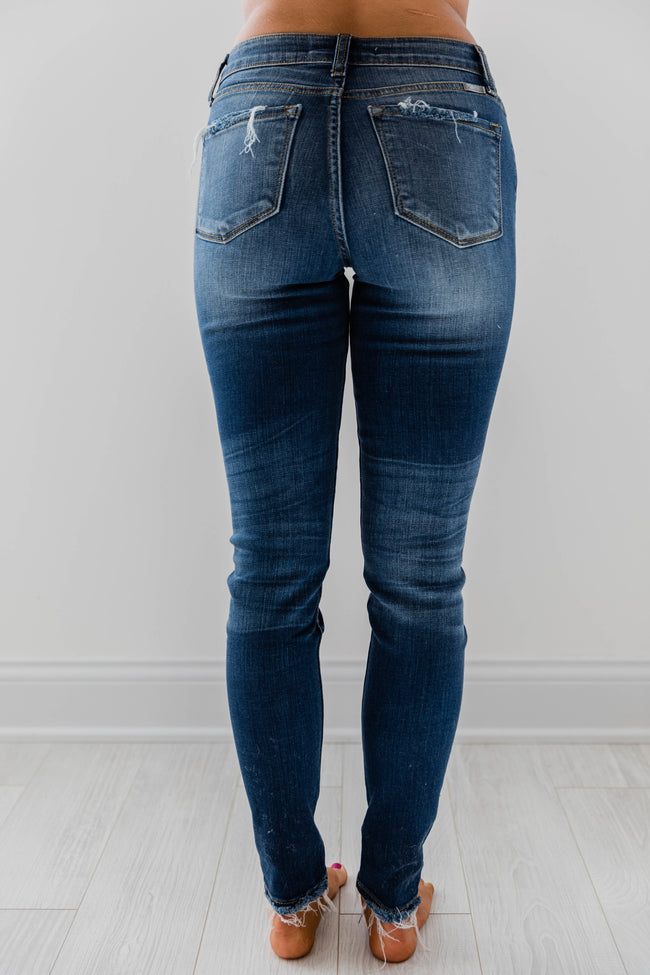 The Colleen Dark Wash Distressed Jeans