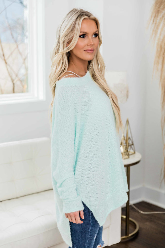 Uncomplicate My Life Mint Pullover
