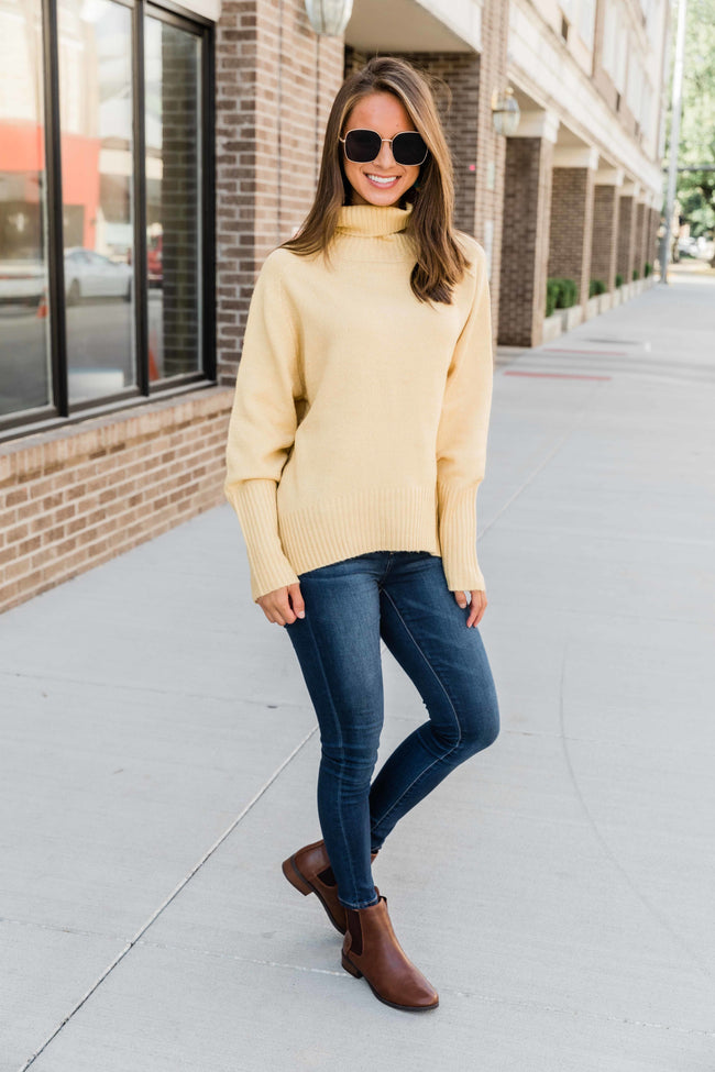 If You'll Love Me Yellow Sweater  FINAL SALE