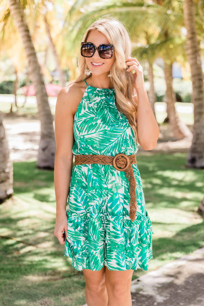 Wishing For Paradise Dress Green
