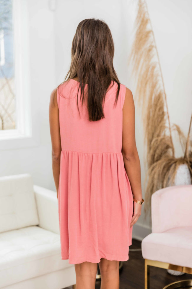 Never Find Another Like Me Dress Dusty Pink