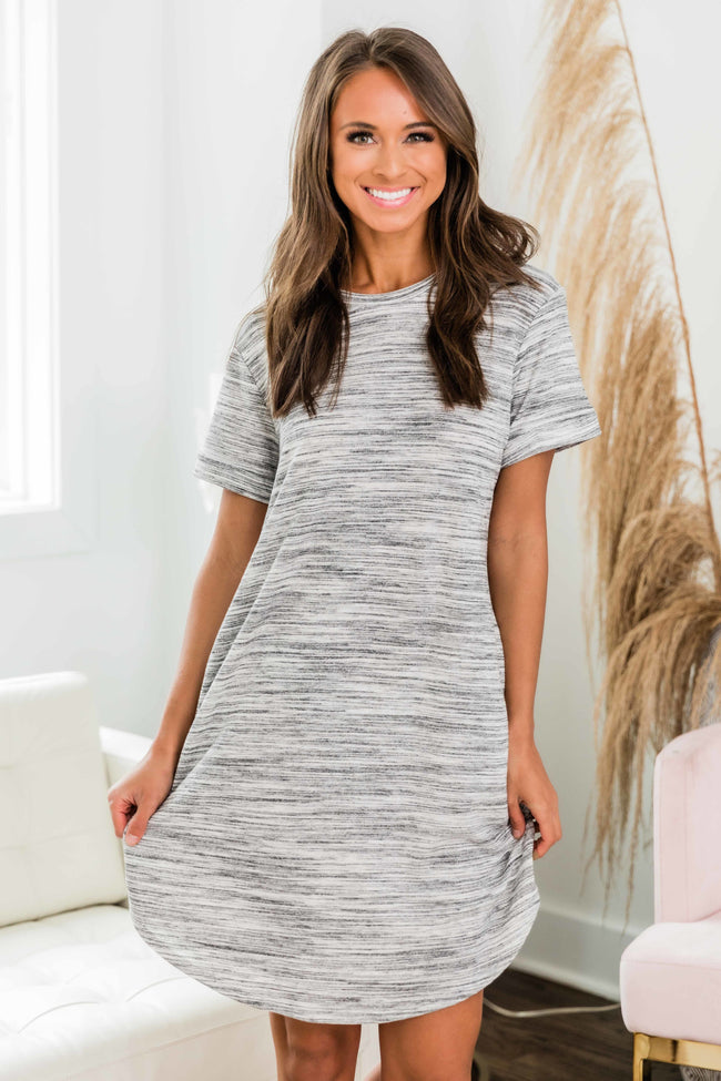 Living For The Weekend Dress Heather Grey