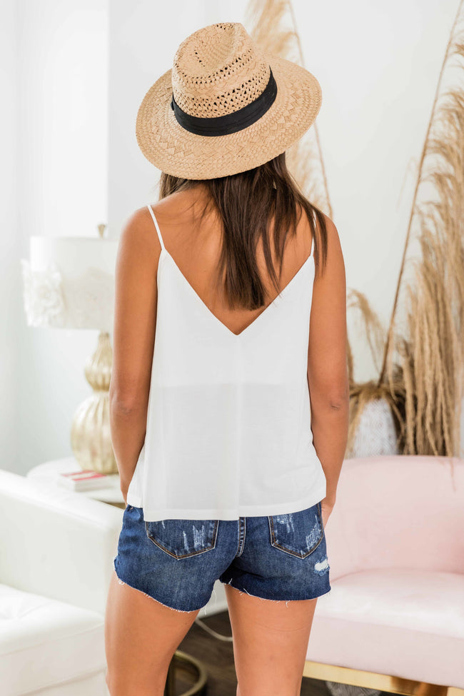 Down For You Layering Tank Off White