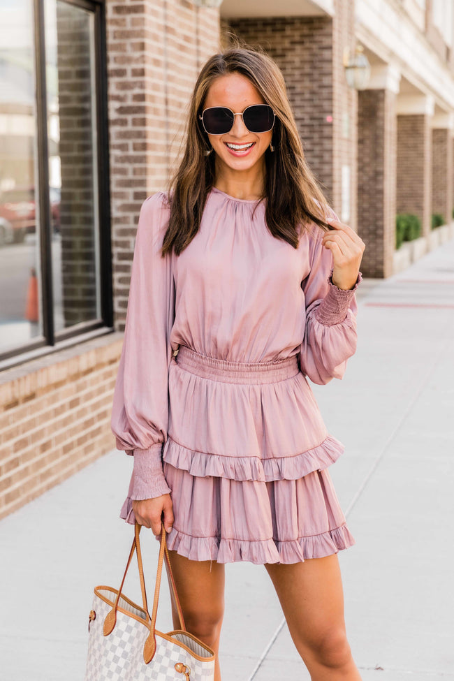 These Are The Nights Mauve Dress