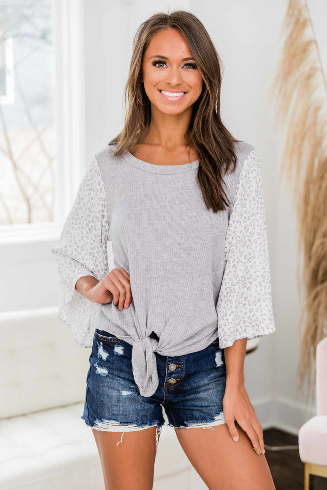 Chasing My Own Dreams Blouse Grey FINAL SALE