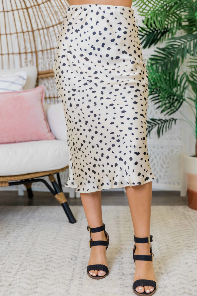 A Compelling Story Cream Animal Print Skirt FINAL SALE