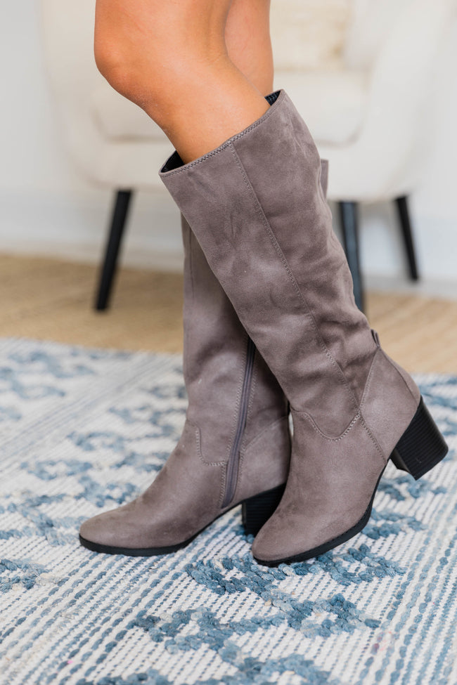 The Hermione Grey Boots CLEARANCE