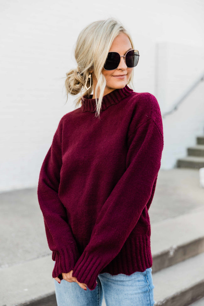 My Sweetest Obsession Wine Sweater