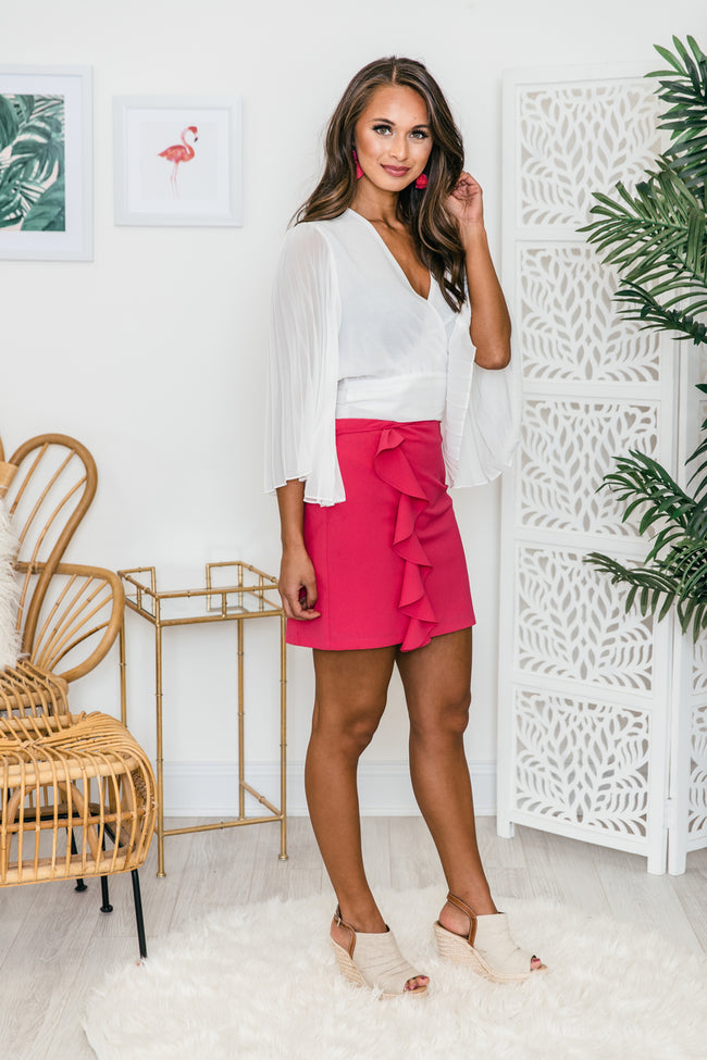 Have All The Fun Hot Pink Skirt   FINAL SALE
