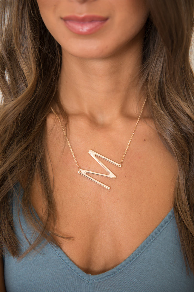 Individual Style Gold Initial Necklace