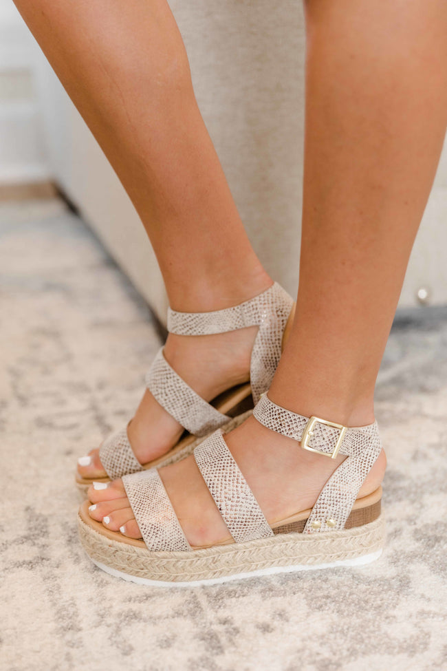 The Annika Platform Wedge Snakeprint