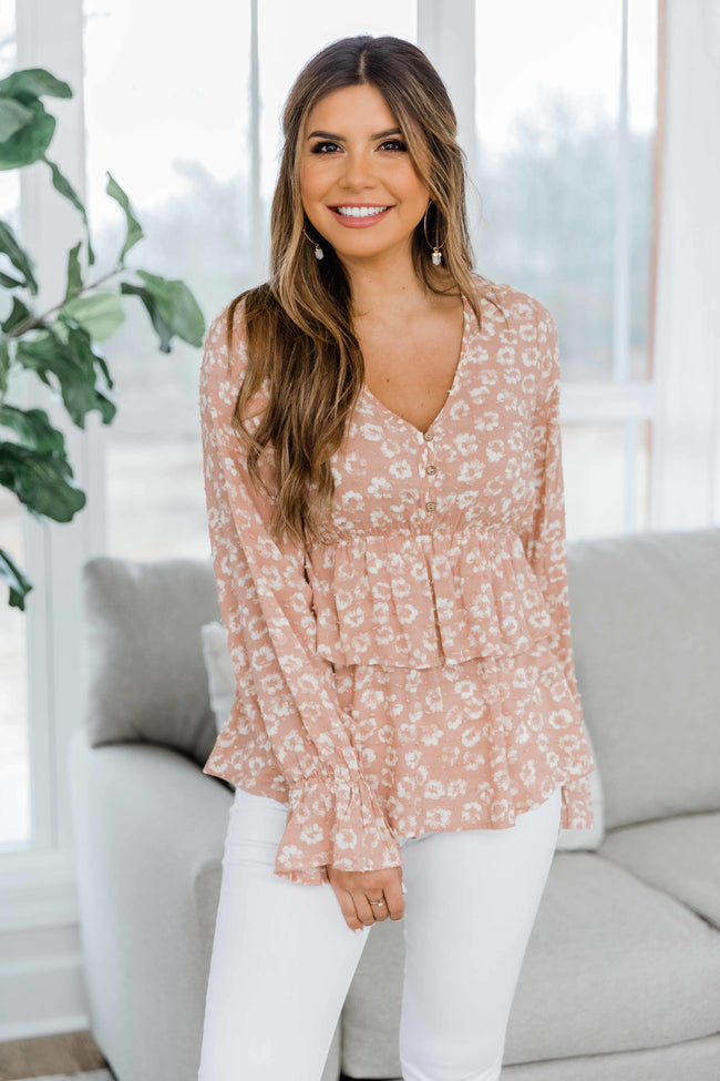 Field of Daydreams Floral Blouse Blush FINAL SALE