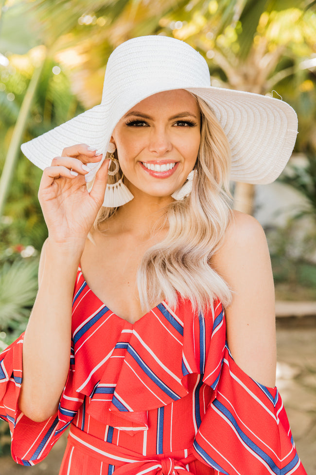 Shoreline Songs Floppy Hat White