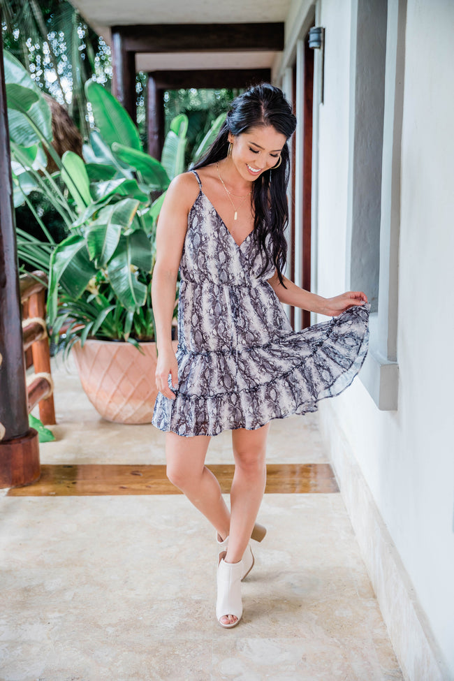 Spirit In The Night Snakeskin Dress CLEARANCE