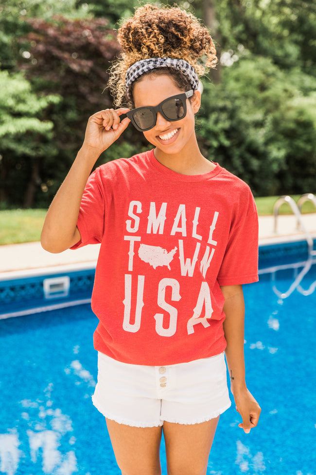 Small Town USA Red Graphic Tee