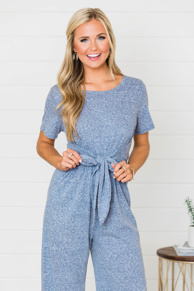 Find The Time Faded Blue Jumpsuit